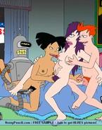 Crazy Futurama porn orgy in cartoon gallery