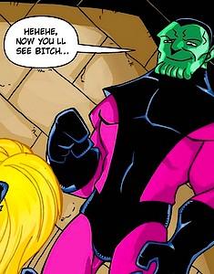 Curvy Ms. Marvel pleasuring the Avengers