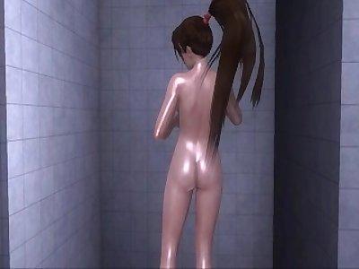 Dead or Alive Xtreme 3 PC - Shower Scene Nude Momiji