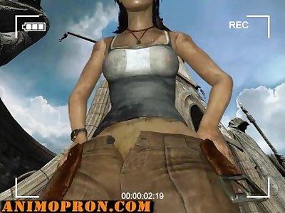 Lara's Croft anal solo