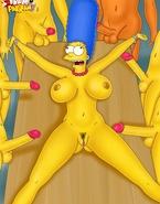 Super-stacked Turanga Leela and Marge Simpson getting shagged like total sluts