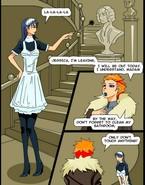 Maid under transsexual attack